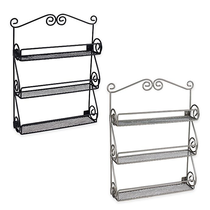 Alternate image 1 for Scroll Wall Mount Nail Polish Holder