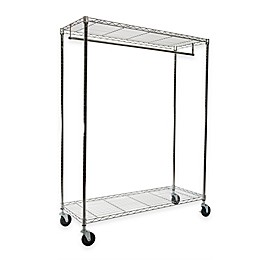 Extra-Wide Heavy Duty Garment Rack in Chrome