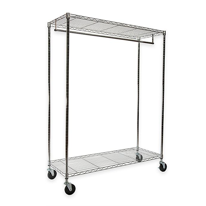 Alternate image 1 for Extra-Wide Heavy Duty Garment Rack in Chrome