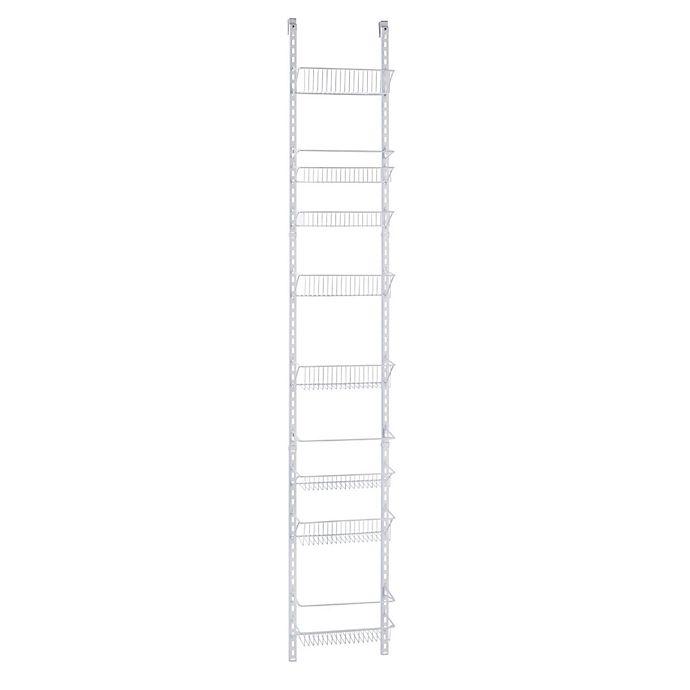 Alternate image 1 for ClosetMaid® Adjustable 8-Tier Wall & Door 12-Inch Wide Rack in White