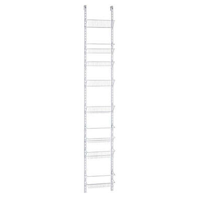 ClosetMaid® Adjustable 8-Tier Wall & Door 12-Inch Wide Rack in White