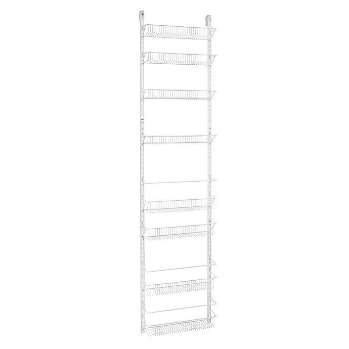Alternate image 1 for ClosetMaid® Adjustable 8-Tier Wall & Door 18-Inch Rack in White