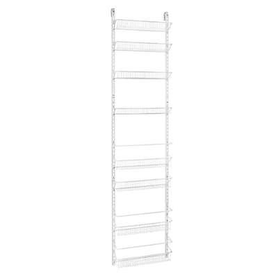 ClosetMaid® Adjustable 8-Tier Wall & Door 18-Inch Rack in White