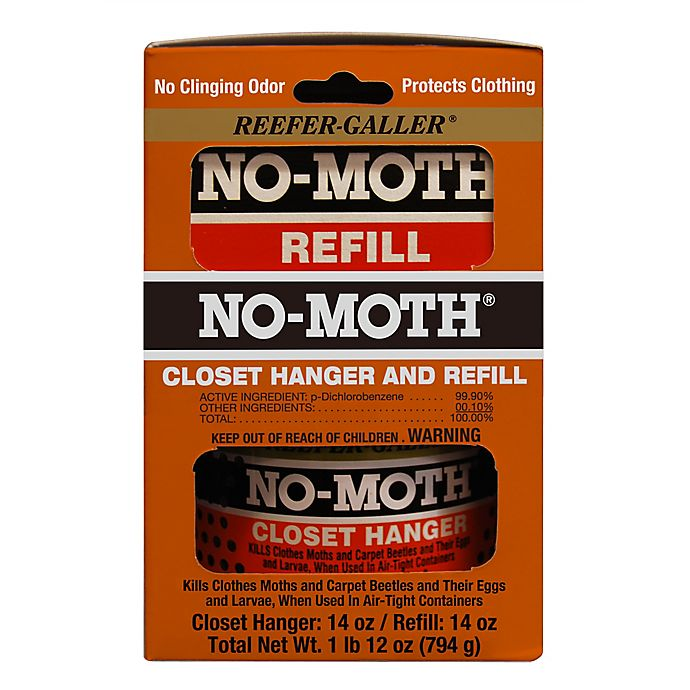Reefer-Galler® No-Moth® Closet Hanger and Refill Combo | Bed