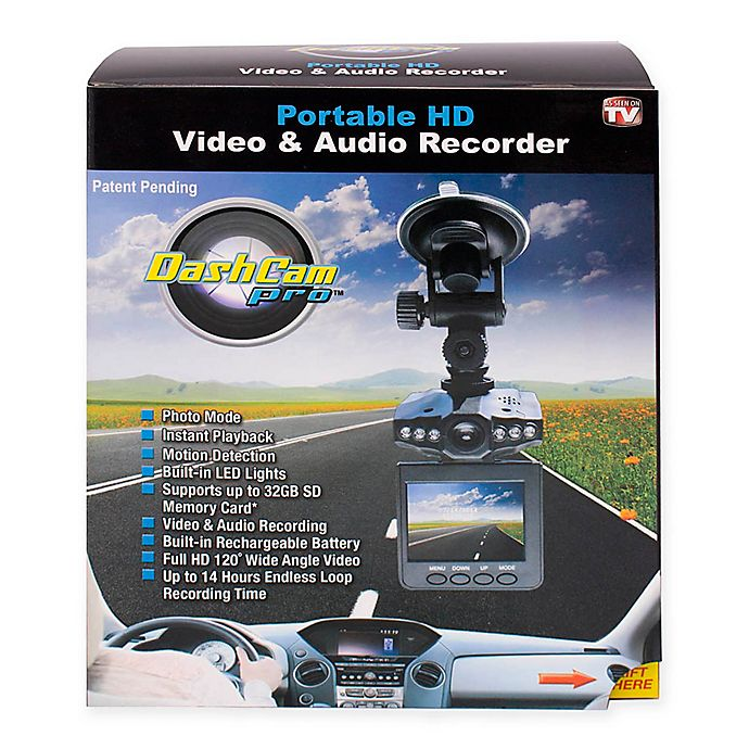 Alternate image 1 for DashCam Pro™ Portable HD Video and Audio Recorder
