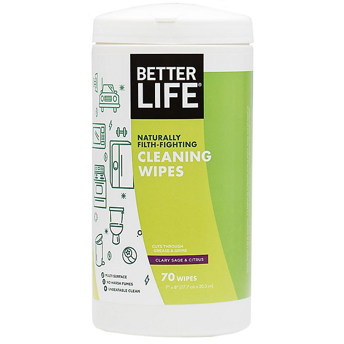 Alternate image 1 for Better Life® Naturally Filth-Fighting 70-Count All Purpose Cleaning Wipes