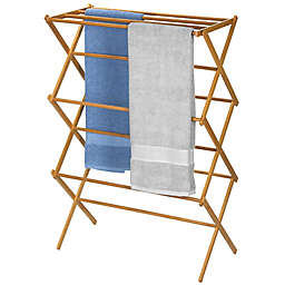 Household Essentials Bamboo X Frame Clothes Drying Rack