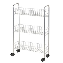 Household Essentials® 3-Shelf Slimline Utility Cart in Silver