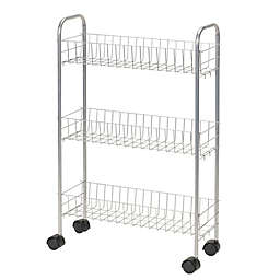 Household Essentials® 3-Shelf Slimline Utility Cart in Silver
