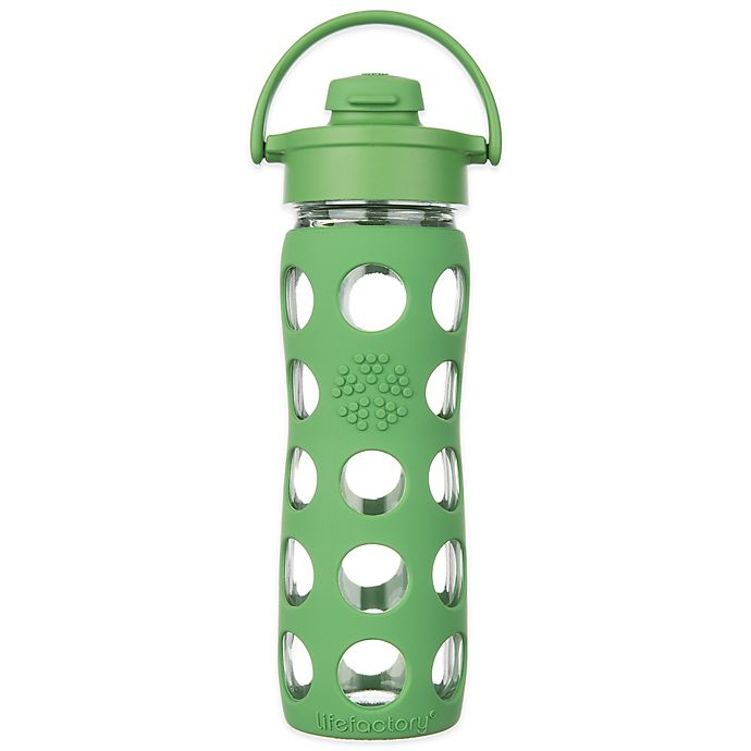 Alternate image 1 for Lifefactory®Glass Water Bottle with Flip Cap