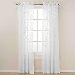 Caspia Sheer Window Curtain Panel and Valance