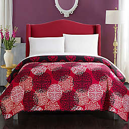 Chic Home Jennifer Reversible Twin Quilt in Red/Black