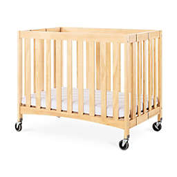 Foundations Travel Sleeper Compact Folding Crib in Natural