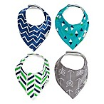 Ziggy Baby™ 4-Pack Bandana Bib Set in Blue/Teal