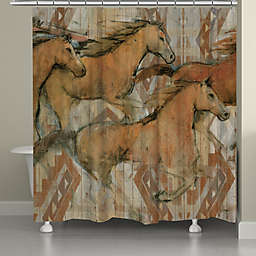 Laural Homereg Southwestern Horses Shower Curtain