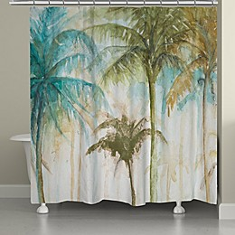Laural Home® Watercolor Palm Shower Curtain