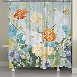 Laural Home® Spring Floral Shower Curtain
