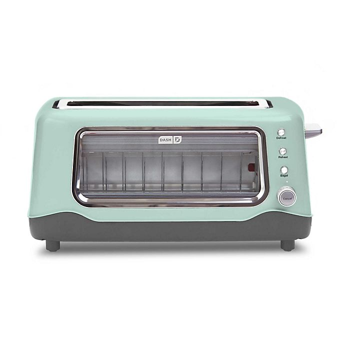 Alternate image 1 for Dash® Clear View 2-Slice Toaster in Aqua