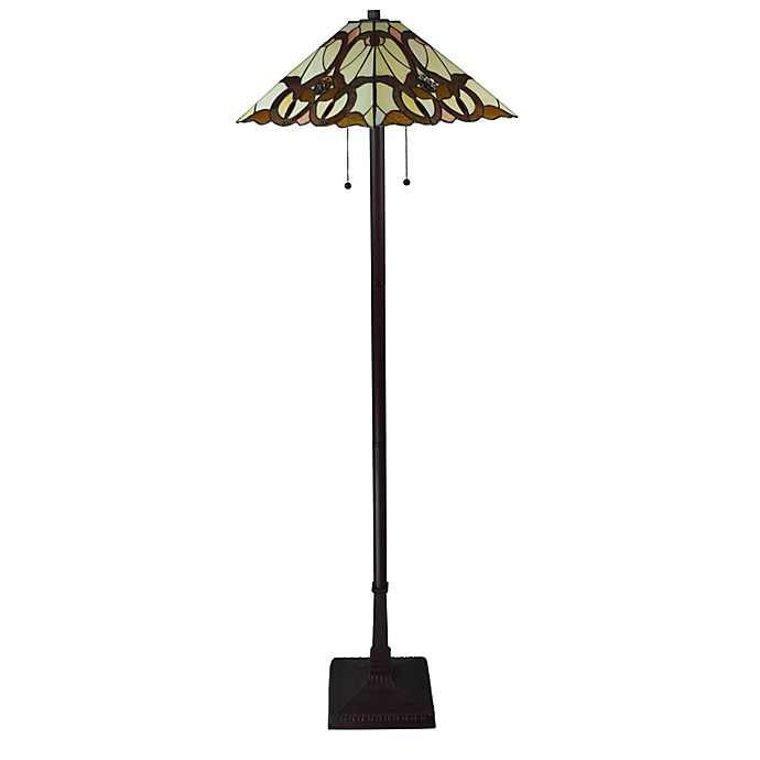 Alternate image 1 for Tiffany Style Mission Floor Lamp in