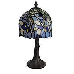 Tiffany Style Iris Floral Mini Table Lamp