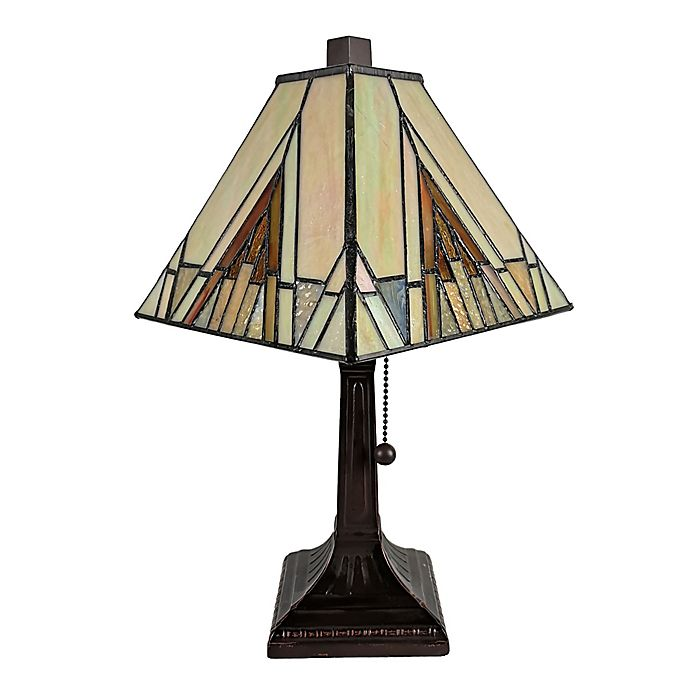 Alternate image 1 for Mission Tiffany Style Mini Table Lamp