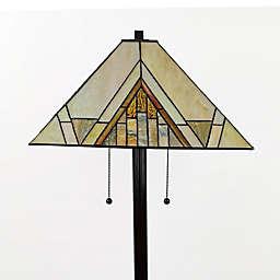 Mission Tiffany Style 2-Light Floor Lamp
