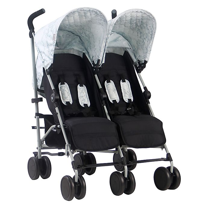 Alternate image 1 for Your Babiie MAWMA By Snooki Chelsea Double Stroller in Marble