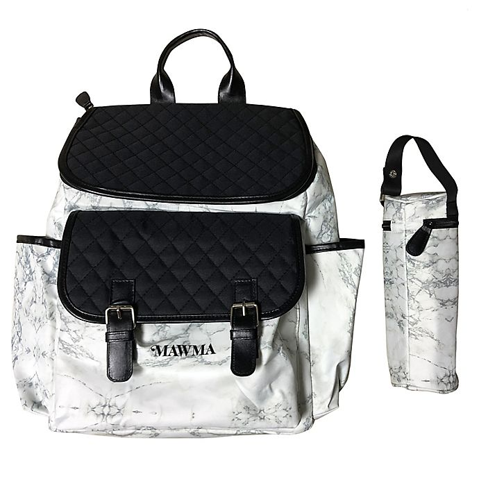 Alternate image 1 for Your Babiie™ MAWMA By Snooki Backpack Diaper Bag in Marble