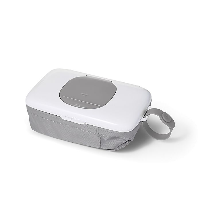 Alternate image 1 for OXO tot® On-the-Go Wipes Dispenser with Diaper Pouch in Grey