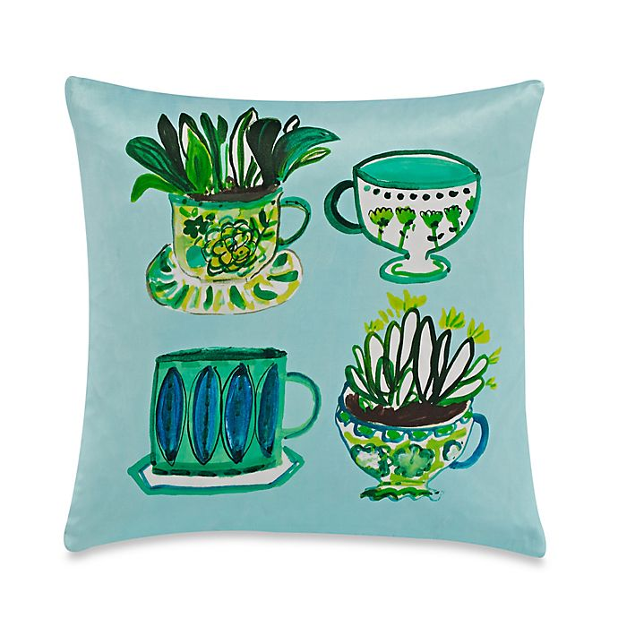 Alternate image 1 for kate spade new york Tea Party Throw Pillow in Green