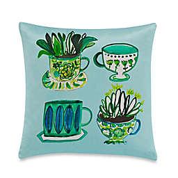 kate spade new york Tea Party Throw Pillow in Green