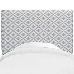 Skyline Furniture Aubrey Headboard in Ikat Fret Pewter