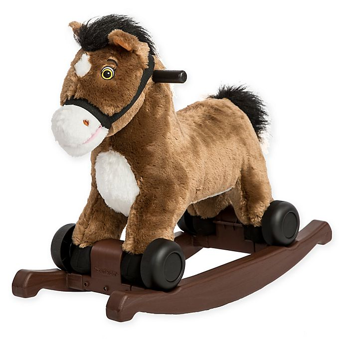 Alternate image 1 for Rockin' Rider 2-in-1 Rocking Pony in Chocolate