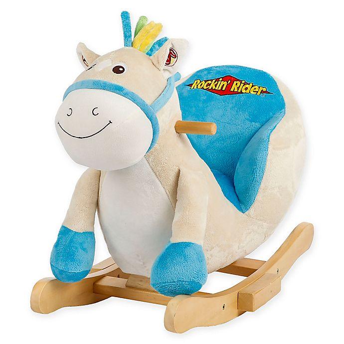 Alternate image 1 for Rockin' Rider Tickles Baby Rocker in Blue
