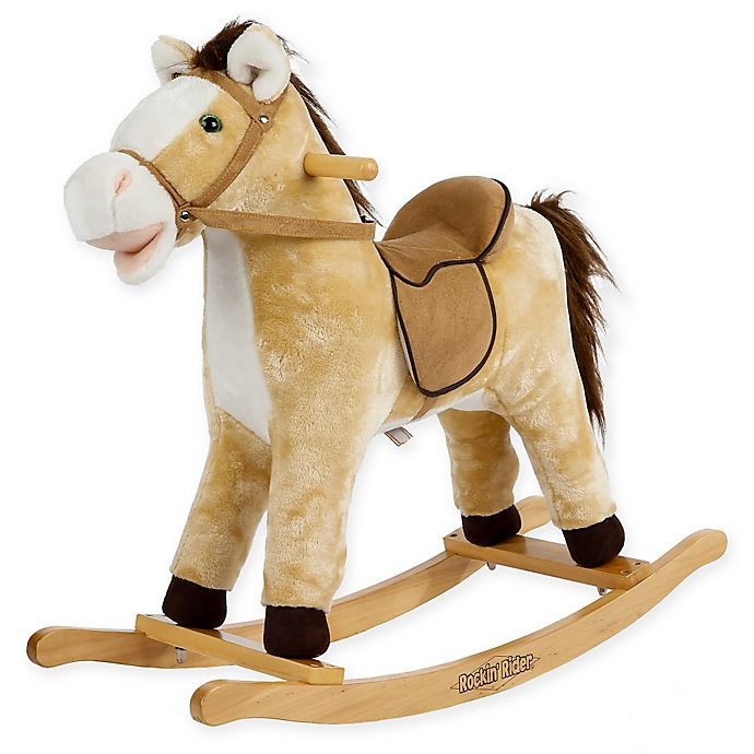 Alternate image 1 for Rockin' Rider Derby Rocking Horse in Beige