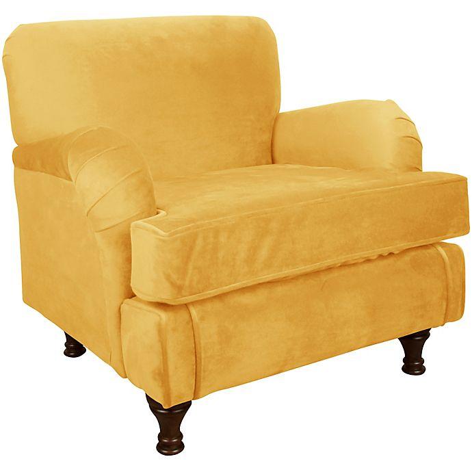 Alternate image 1 for Skyline Furniture Sherman Kids Chair in Velvet Canary