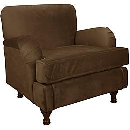 Skyline Furniture Sherman Kids Chair in Velvet Chocolate