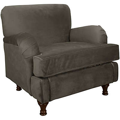 Skyline Furniture Sherman Kids Chair in Velvet Pewter