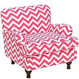 Skyline Furniture Sherman Kids Chair in  Zig Zag Candy Pink