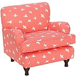 Skyline Furniture Sherman Kids Chair in Bird Silhouette Bittersweet