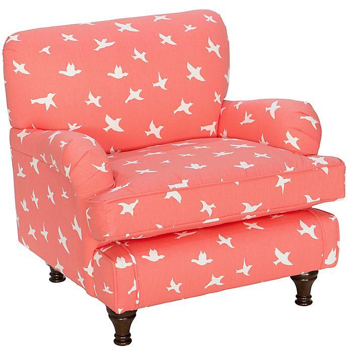 Alternate image 1 for Skyline Furniture Sherman Kids Chair in Bird Silhouette Bittersweet