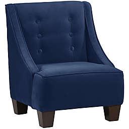 Skyline Furniture Wilson Kids Chair in Velvet Navy