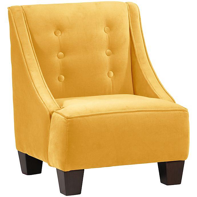 Alternate image 1 for Skyline Furniture Wilson Kids Chair in Velvet Canary