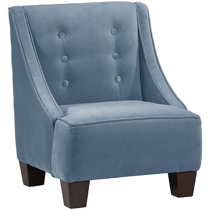 Alternate image 1 for Skyline Furniture Wilson Kids Chair in Velvet Ocean
