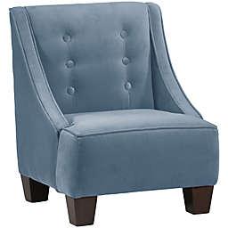 Skyline Furniture Wilson Kids Chair in Velvet Ocean