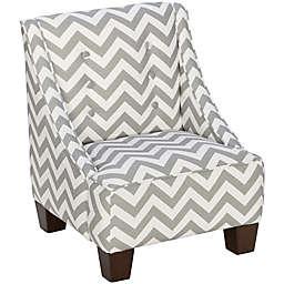 Skyline Furniture Wilson Kids Chair in Zig Zag Ash White