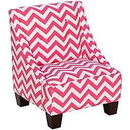 Skyline Furniture Wilson Kids Chair in Zig Zag Candy Pink