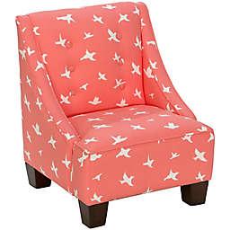 Skyline Furniture Wilson Kids Chair in Bird Silhouette Bittersweet