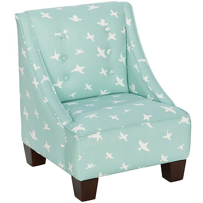 Skyline Furniture Wilson Kids Chair In Bird Silhouette