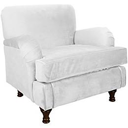 Skyline Furniture Sherman Kids Chair in Velvet White